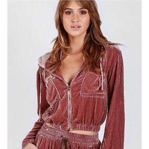 NWT Young, Fabulous & Broke Velvet Fritzy Jacket